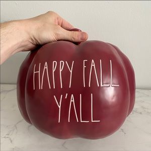 "Rae Dunn XL Ceramic ""Happy Fall Y'all"" Pumpkin"